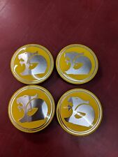 GENUINE HSV LION YELLOW CENTRE CAP VZ VE VF MALOO CLUBSPORT R8 **SET OF 4**