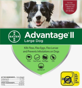 Advantage II For Large Dogs 21-55 lbs, RED 6 Pack