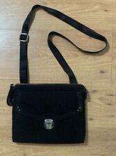 Vera Bradley Crossbody Shoulder Bag Purse Medium Solid Black Silver 10x9x1.5