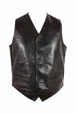 Big & Tall Button Leather Casual Waistcoats for Men