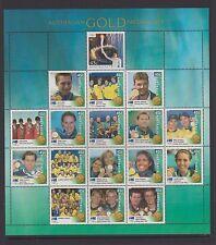 Australia 2000 Sydney Olympics Australian Gold Medallists Composite Sheet, MUH.