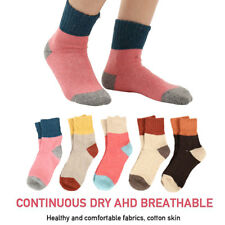 5pair Women Wool Vintage Socks Warm Soft Cashmere Thick Solid Sports Sock
