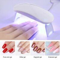 Mini Gel Polish Curing Machine Nail Dryer 6W USB Charging Portable UV LED Lamp