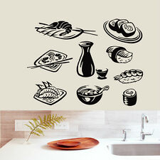 SEAFOOD WALL DECALS SUSHI DECAL VINYL STICKER KITCHEN DECOR CAFE ART MURALS N275