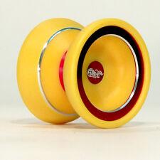 yoyo Zeekio Flare Ultra - Delrin Plastic and Aluminum Yo-Yo (Yellow/Red)