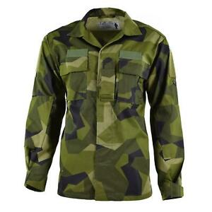 Genuine Swedish army M90 jacket splinter camo field troops lightweight shirt NEW