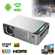T6 Lcd Led Proyector 500 lúmenes 1080P multimedia Home Theater Wi-Fi Video Beamer