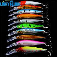 10pcs/lot Quality 11cm-10g Fishing Lures Crankbaits Hooks Minnow Baits Tackle