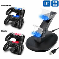 Dual Controller Charging Docking Station Charger Stand for PS4 /PS4 Pro/PS4 Slim