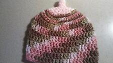 Newborn Pink Camouflage Breastfeeding Crochet Boob Baby Beanie/Hat
