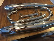 "VINTAGE BMW NEW ""COMPLETE"" CHROME EXHAUST PACKAGE /5 W/CIGAR MUFFLERS"