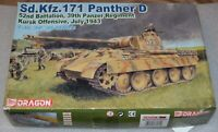 Dragon 1/35 Scale SdKfz 171 Panther D Early Kursk 43' Model Kit #6164