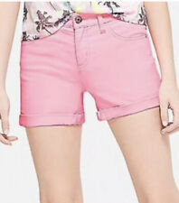 Justice Girl's Size 12 Plus Roll Cuff Shorts in Pink New with Tags
