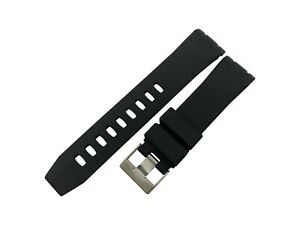 BLACK 22mm Rubber/Silicone STRAP/BAND FIT OMEGA WATCH SeaMaster PLANET OCEAN