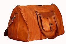 gym weekend overnight Bag Men's genuine Leather large Triangle Duffle Travel