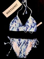 $105 Victoria's Secret Bikini~Babe Triangle~Side Tie Cheeky~Smoked Tie Dye~Sz S