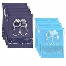 10 Pcs Travel Dust-proof Shoe Bags with Drawstring &Transparent Shoe Organizer
