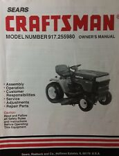 Sears Craftsman Riding GT6000 Lawn Garden Tractor Owner & Part Manual 917.255980