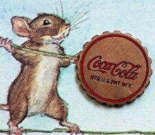 Vintage COCA COLA COKE Emblem Brass Bottle Cap Antique Enameled Official #G18A