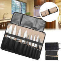 10/21 Pockets Chef Knife Bag Roll Bag Carry Case Bag Kitchen Portable Storage !