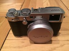 Fujifilm X100F Digital Fuji Camera Perfect Condition Silver Free Shipping