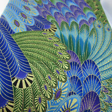 100/% Cotton Fabric Timeless Treasures Peacock Funky Fluttering Feathers