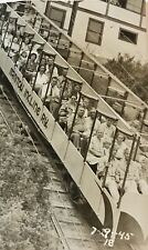 Manitou Incline Railway Colorado RPPC  Tourists 1945 Unposted