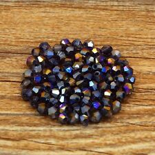 Swarovski 5301# 4 mm Bicone Crystal beads 100 Pieces Violet AB