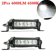 2Pcs 60W Spot LED Light Work Bar Lamp Driving Fog Offroad SUV 4WD ATV Car Truck