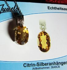 Silberkette mit Anhänger Citrin