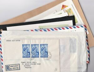 Montserrat - Assorted covers including: Airmails, FDC's with '37' Coronation, Ch