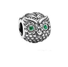 Pandora Charm Wise Owl Dark Green Cubic zirconia 791211CZN with gift box