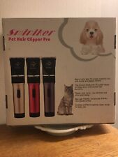 Sminiker Professional Rechargeable Cordless Pet Hair Clipper Pro (Gold) New