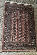 Large vintage John Lewis Rug Carpet Handmade Bokhara 186 X 124cm