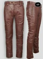 URBAN Mens Genuine Lambskin 100% Real Leather Pant Outdoor Stylish Casual