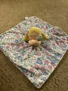 Carters Purple Floral Blonde Pigtails Baby Doll Blanket Security Lovey Carter's