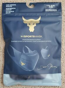 NEW Under Armour Project Rock Sports Mask +Iso-Chill Adult Sz:L/XL 1368451-410