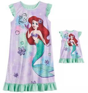 Disney Ariel Nightgown /& Doll Gown fit American Girl 6 Pajama NWT