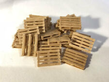 3D PRINTED REAL WOODEN EURO PALLETS OO GAUGE 1:76 SCALE MODEL RAILWAY AX063-OO