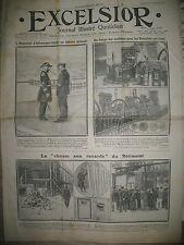 JOURNAL EXCELSIOR N° 246 RENARD OUVRIER NON GREVISTE STATUE Mme DE SéVIGNé 1911