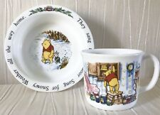 Vintage 1991 ROYAL DOULTON Winnie The Pooh, Cup & Bowl - Baby/Birth/ Christening