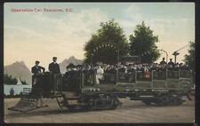 Postcard VANCOUVER BC/CANADA  B.C.E. Railway Tourist Trolley #124 view 1907