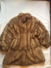 PHILIP HOCKLEY BEAUTIFUL BLONDE CANADIAN SABLE FUR COAT WITH POUCH SLEEVES