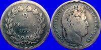 France - LOUIS PHILIPPE - 2 Francs 1833 - D - Argent