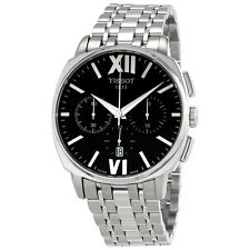 Tissot T-Lord Chronograph Black Dial Stainless Steel Mens Watch T0595271105800
