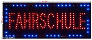 """LED Schild XXL """"FAHRSCHULE"""" A2 Werbeschild Leuchtreklame Werbung Hinweisschild"""