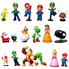 18pcs Super Mario Bro. PVC Game Figure Decor Doll Collection Kids Toy Gifts