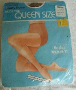 VTG Queen PANTI-ALL Panty Pantihose All In 1 Stockings Nylons Sandalfoot Suntone