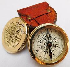 Nautical Marine Brass Compass Marine Robert Frost Poem Compass Vintage Day Gift