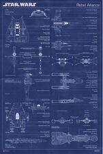 24x36 Star Wars Rebel Alliance Machine Blueprint Poster shrink wrapped